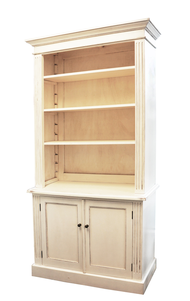 French Provincial Library Bookcase Cabinet - Wholesales Direct