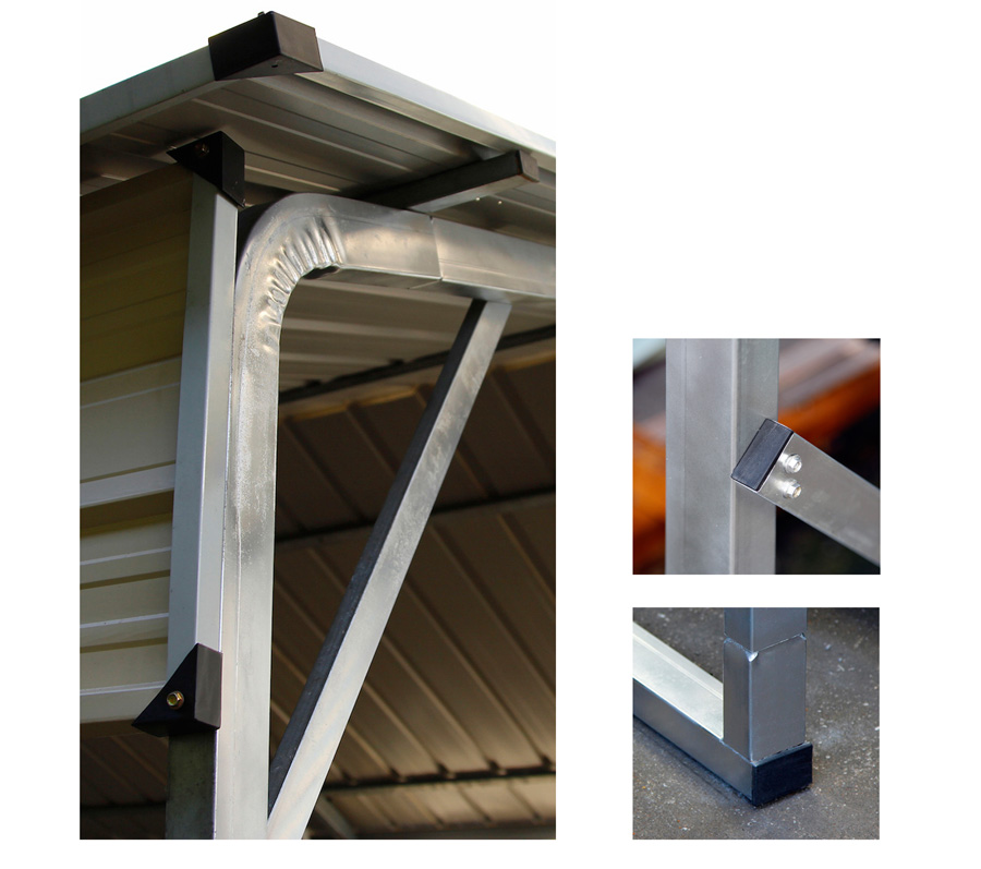 Heavy Duty Metal Carports : New heavy duty galvanized steel carport mw md