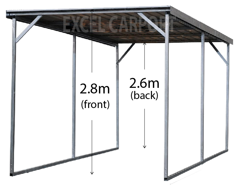 Vehicle Shelter 3 5m X 6m X 2 8m Steel Carport Carports
