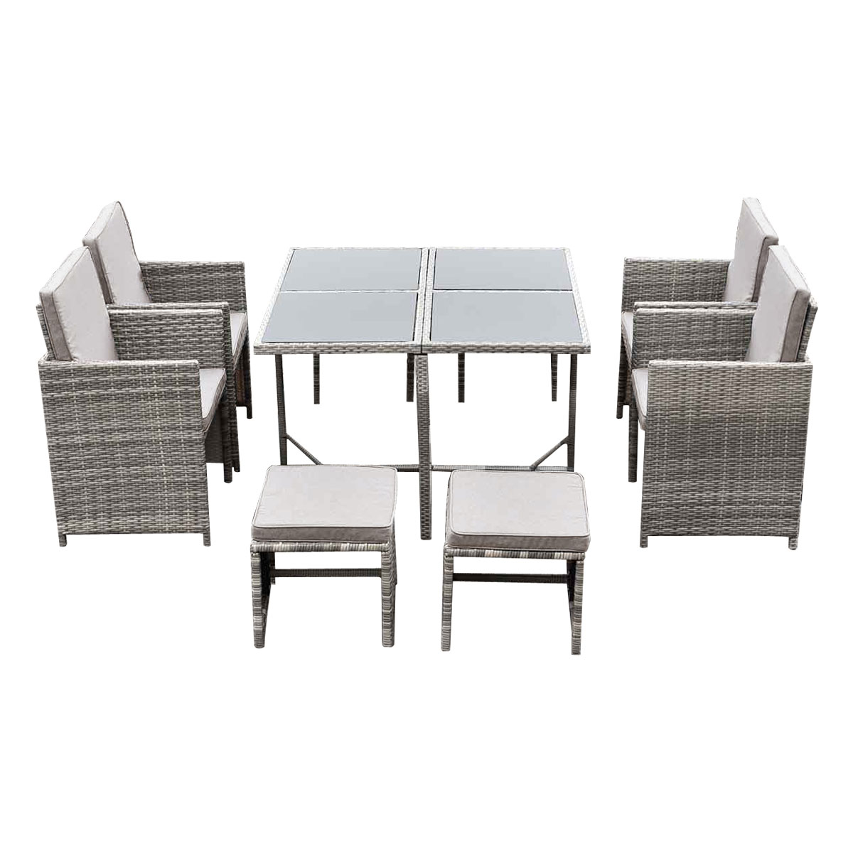 Outdoor Dining Table Set Furniture Garden Patio Pool