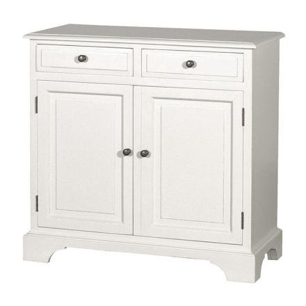 Hamptons Modern Buffet Sideboard Cabinet in White - 2 Sections