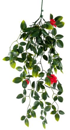 Red Mixed Hanging Foliage Uv 60cm