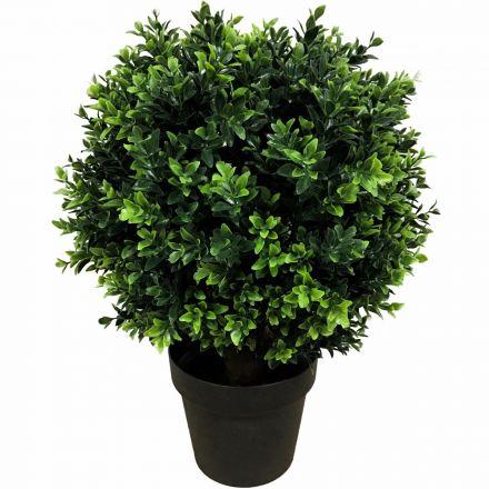 Uv Resistant Artificial Topiary Shrub (hedyotis) 50cm Mixed Green