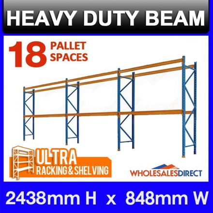 ULTRA Pallet Racking 18 Space Package features