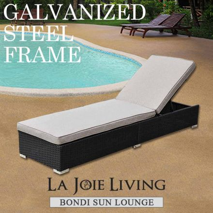 Bondi Outdoor Sun Lounge Bed Furniture Steel Frame