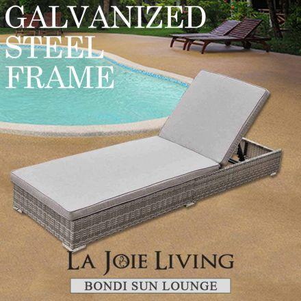 Bondi Outdoor Sun Lounge Bed Furniture Steel Frame