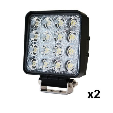 2pcs 48w Led Work Lights Flood Lamp Off Road 12v 24v Boat Camping Fishing 80w