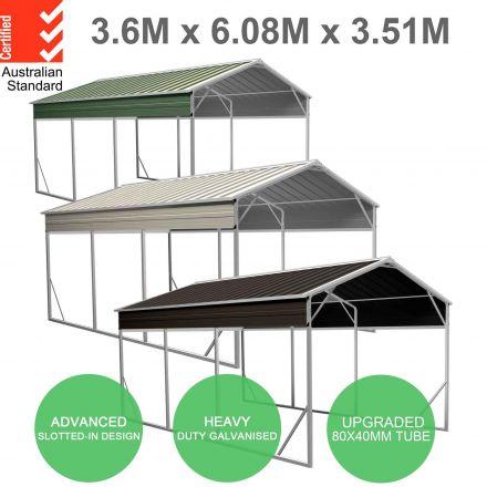 Vehicle Shelter 3.6 x 6.08m x 3.51m Carport
