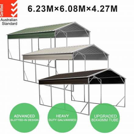 Carport 6.23m x 6.08m x 4.27m (Gable) Backyard Boat Portable Vehicle Shelter