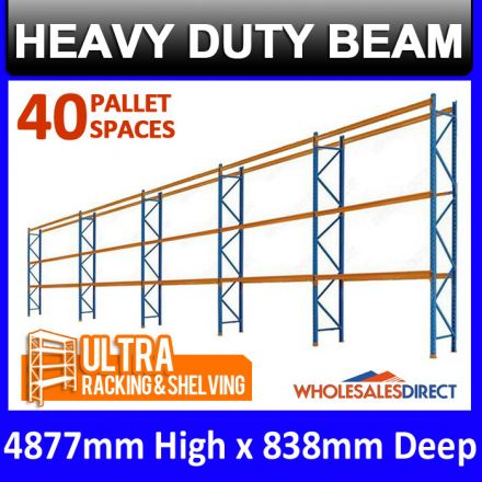 ULTRA Pallet Racking 40 Space Package features