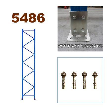 Pallet Racking Upright Frame 5486mm