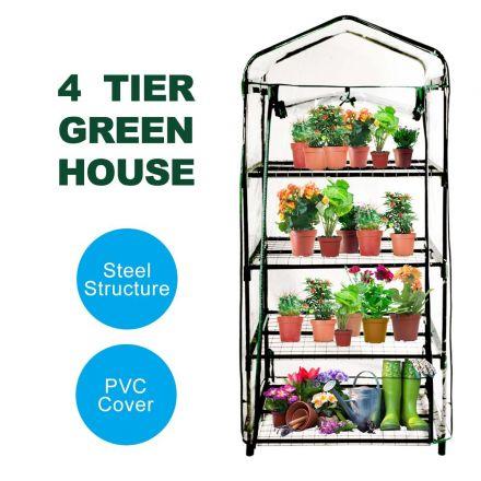 EcoFresh 4 Tiers Greenhouse PVC Cover Garden Storage