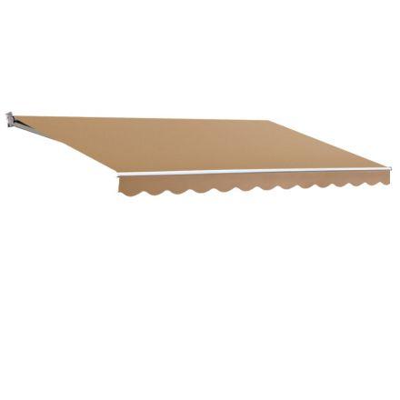 Instahut 4m X 3m Outdoor Folding Arm Awning - Beige