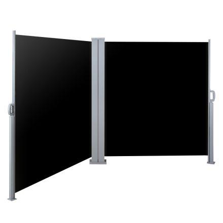 Instahut 2x6m Retractable Side Awning Garden Patio Shade Screen Panel Black