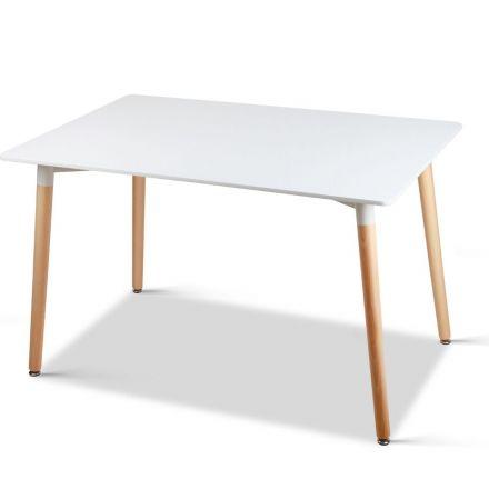 Rectangular 6 Seater Dining Table White