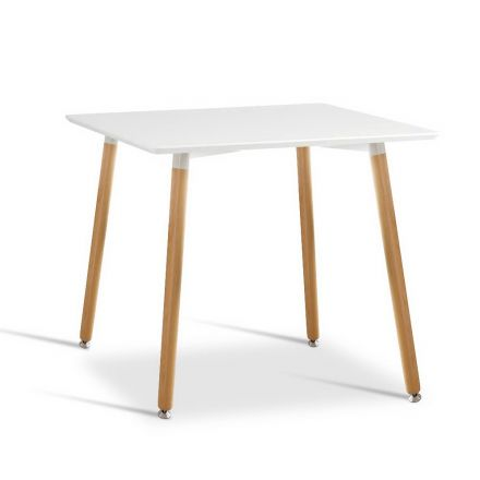 Replica Eames Dsw Cafe Retro Dining Wooden Table White