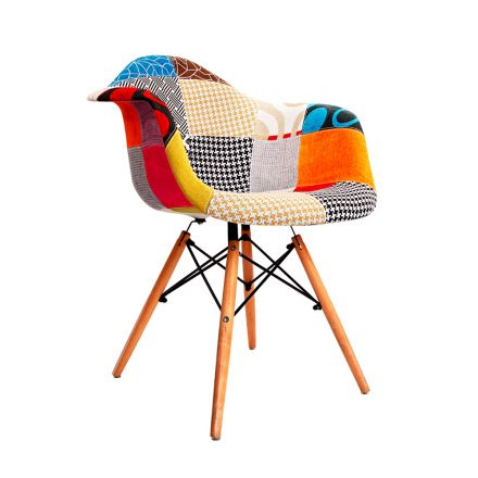 Set Of 2 Replica Eames Armchairs Fabric