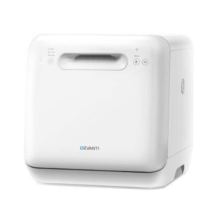 Devanti Counter Benchtop Dishwasher Portable Caravan Dishwashers Baby Bottle Sterilizer White