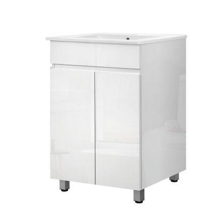 Cefito Bathroom Vanity Cabinet Unit Wash Basin Sink Storage Freestanding 600mm White