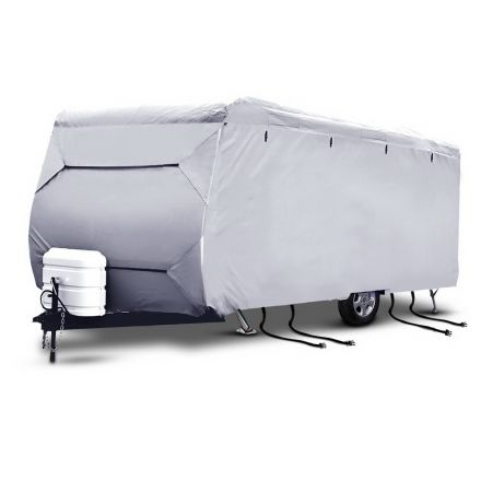 4 Layers 4 Side Open Caravan Campervan Cover Straps 16-18ft