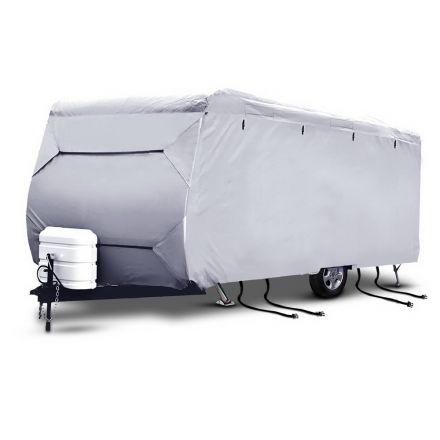 4 Layers 4 Side Open Caravan Campervan Cover Straps 14-16ft