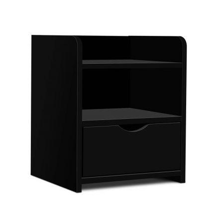 Bedside Table Drawer Black