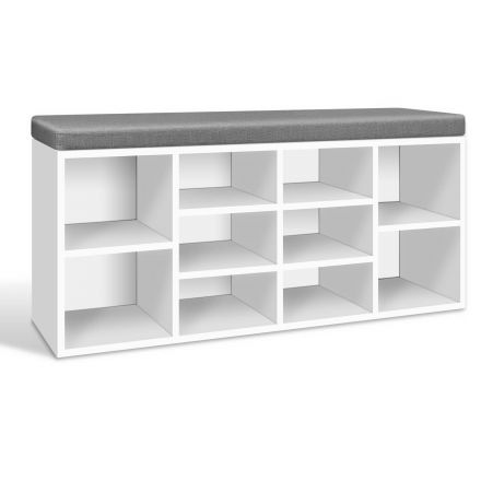 Fabric Shoe Bench Cabinet Rack With Storage Cubes