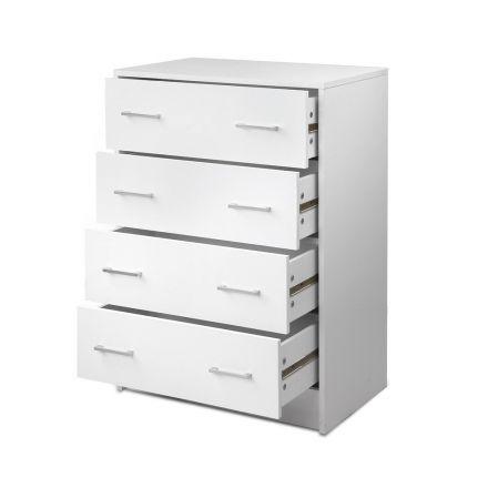 Tallboy 4 Drawers Storage Cabinet White