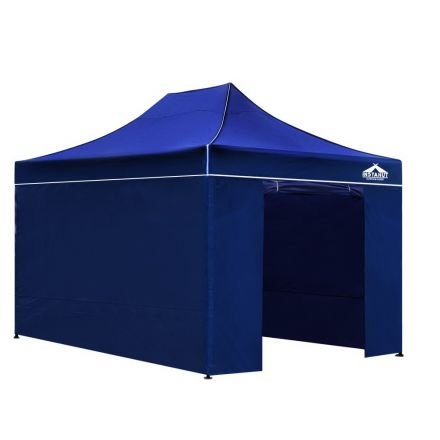 3x4.5 Pop Up Gazebo Hut With Sandbags Blue