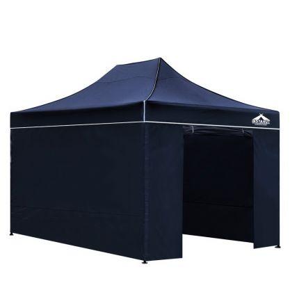 3x4.5 Pop Up Gazebo Hut With Sandbags Navy