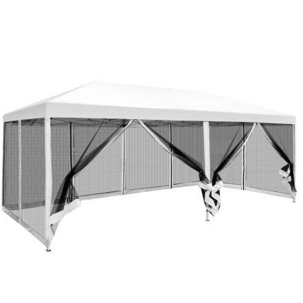 Instahut 3x6m Pop Up Gazebo Wedding Marquee Mesh Side Walls Canopy Outdoor Tent White