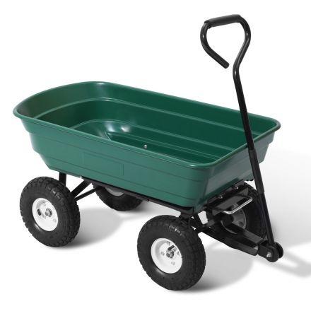 75l Garden Dump Cart - Green