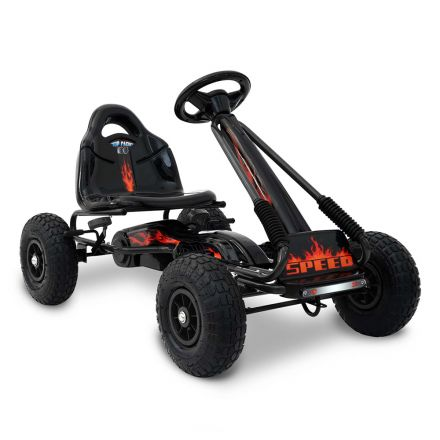 Kids Pedal Go Kart - Black