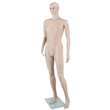 Full Body Male Mannequin Cloth Display Tailor Dressmaker Skin Tone 186cm