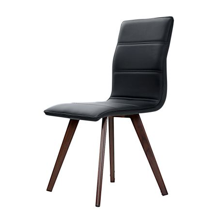 Artiss 2x Dining Chairs Retro Chair New Metal Legs High Back Pu Leather Black