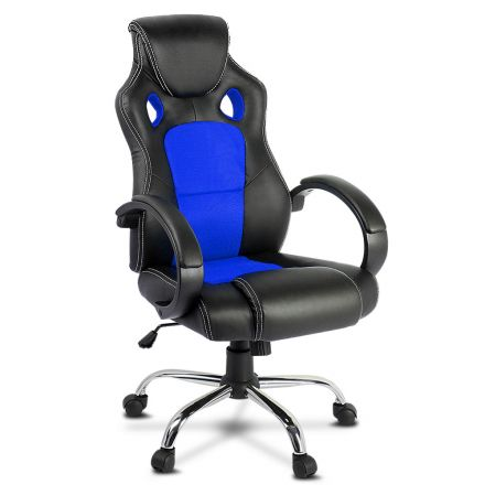 Racing Style Pu Leather Office Chair Blue