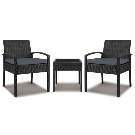 Gardeon 3-piece Outdoor Set - Black