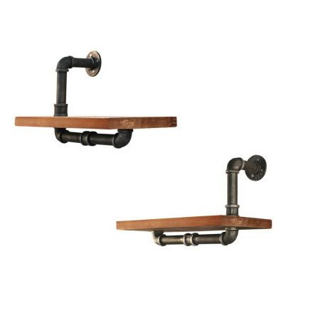 Rustic Industrial Diy Floating Pipe Shelf Half N Half 45cm