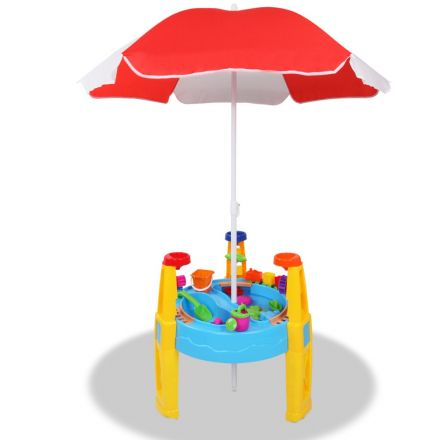 Kids Sand And Water Table Play Set With Umbrella