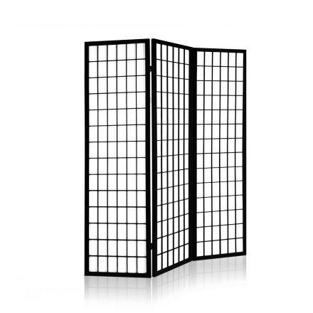 3 Panel Room Divider - Black