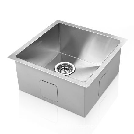 Stainless Steel Kitchen/laundry Sink W/ Strainer Waste 510 X 450 Mm