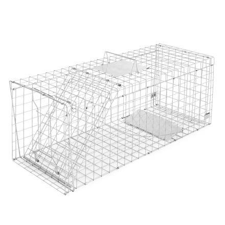 Humane Animal Trap Cage 108 X 40 X 45cm Silver