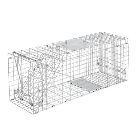 Humane Animal Trap Cage 94 X 34 X 36cm Silver