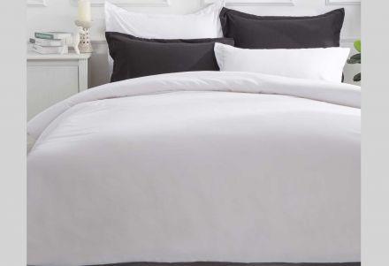 King Size White Color Quilt Cover Set (3pcs)