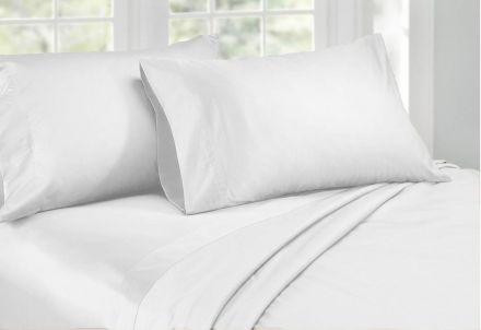 Queen Size 1000tc Cotton Rich Sheet Set (white Color)