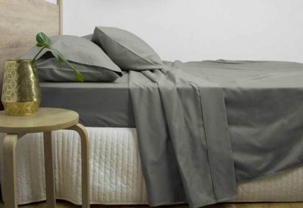 King Size 3000tc Cotton Rich Sheet Set (charcoal Color)