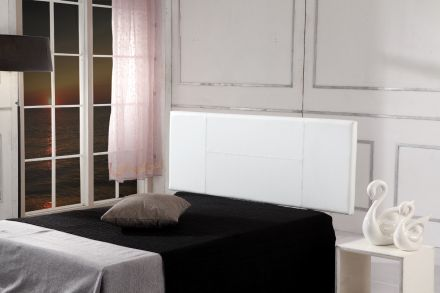 Pu Leather Queen Bed Headboard Bedhead - White