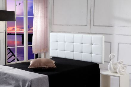 Pu Leather Double Bed Deluxe Headboard Bedhead - White