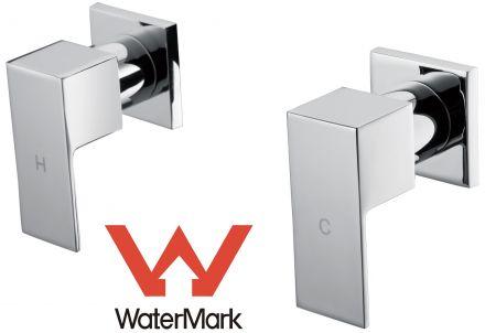 Chrome Bathroom Shower / Bath Mixer Tap Set W/ Watermark