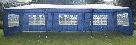 3x9m Wedding Outdoor Gazebo Marquee Tent Canopy Blue